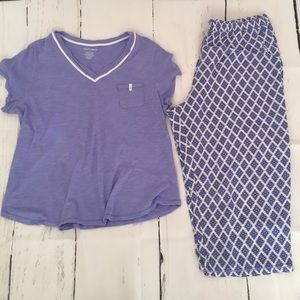 Ellen Tracy Purple 2 Piece Pajama Set Size XL